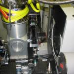High-pressure & low temperature experiment with flow-type cryostat